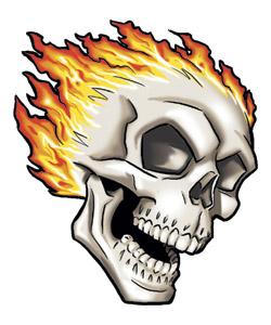 Skull Flame Tattoo Designs